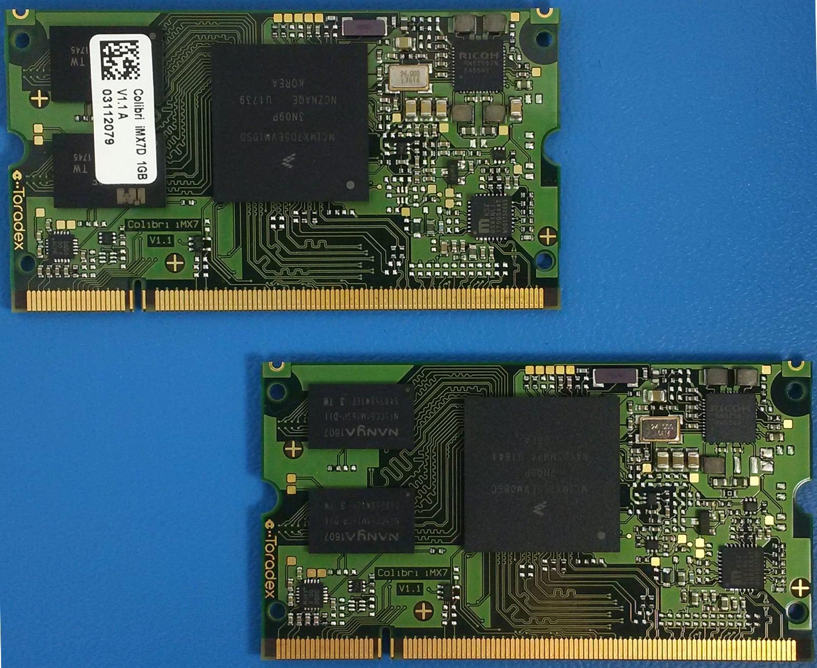 Toradex Colibri iMX7 System on Modules.