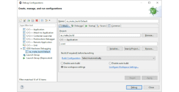 GCC Toolchain Eclipse Setup Guide Part 4 — Debug Configuration